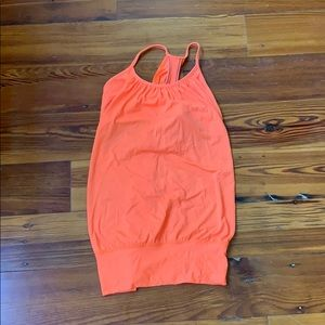 Orange lululemon tank top